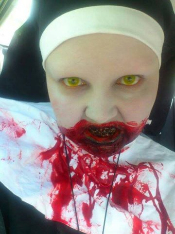 Zombie Walk Yellow Contact Lenses