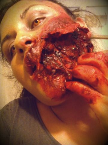 Wild Fire Contacts Zombie Torn Up Face